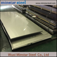 Grade 201 Cold Rolled Stainless Steel Plate dengan 2b Finish 0.8mm 0.9mm 1.0mm Tebal