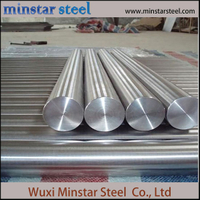 Cold Drwan Polished 304 Stainless Steel Round Bar dalam Persediaan